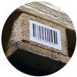 Etiketten für sägeraue Paletten