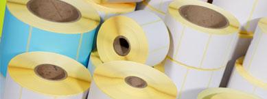 Papieretiketten auf Rolle für Thermotransferdrucker