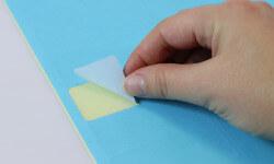 Bestellen Sie blaue Etiketten für Büro und Office Management