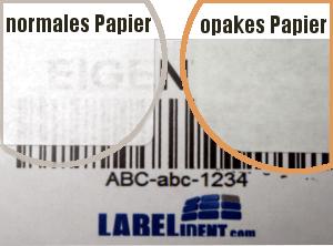 blickdichte Etiketten zum Überkleben