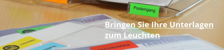 Etiketten farbig - ideal für die Büroorganisation