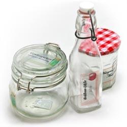 transparente Flaschenetiketten