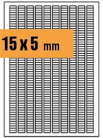 Druckvorlage Etikett rechteckig 015x005 mm