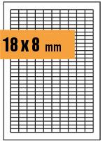 Druckvorlage Etikett rechteckig 018x008 mm
