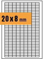 Druckvorlage Etikett rechteckig 020x008 mm