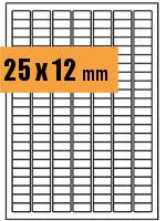 Druckvorlage Etikett rechteckig 025x012 mm