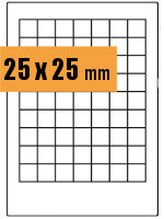 Druckvorlage Etikett rechteckig 025x025 mm