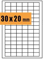 Druckvorlage Etikett rechteckig 030x020 mm