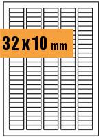 Druckvorlage Etikett rechteckig 032x010 mm