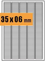 Druckvorlage Etikett rechteckig 035x006 mm