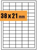 Druckvorlage Etikett rechteckig 038x021 mm