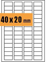 Druckvorlage Etikett rechteckig 040x020 mm