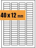 Druckvorlage Etikett rechteckig 040x012 mm