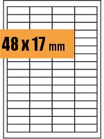 Druckvorlage Etikett rechteckig 048x017 mm