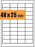 Druckvorlage Etikett rechteckig 048x025 mm