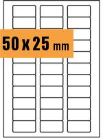 Druckvorlage Etikett rechteckig 050x025 mm