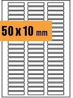 Druckvorlage Etikett rechteckig 050x010 mm