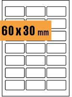 Druckvorlage Etikett rechteckig 060x030mm