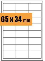 Druckvorlage Etikett rechteckig 065x034 mm