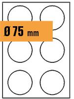 Druckvorlage Etikett rund Ø 075