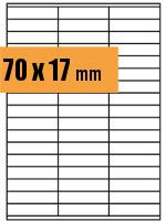 Druckvorlage Etikett rechteckig 070x017 mm