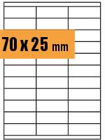 Druckvorlage Etikett rechteckig 070x025 mm