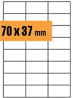 Druckvorlage Etikett rechteckig 070x037 mm