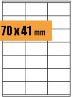 Druckvorlage Etikett rechteckig 070x041 mm