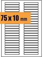 Druckvorlage Etikett rechteckig 075x010 mm