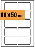 Druckvorlage Etikett rechteckig 080x050 mm