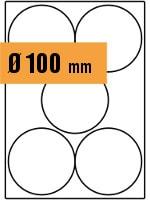 Druckvorlage Etikett rund Ø