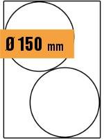 Druckvorlage Etikett rund Ø 150