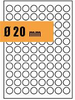 Druckvorlage Etikett rund Ø 020