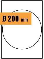 Druckvorlage Etikett rund Ø 200
