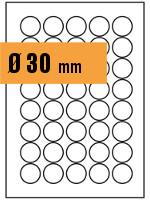 Druckvorlage Etikett rund Ø 030