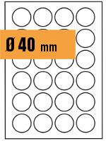 Druckvorlage Etikett rund Ø 040