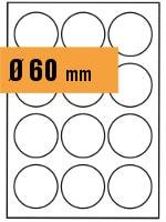Druckvorlage Etikett rund Ø 060