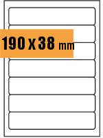 Druckvorlage Etikett Ordnerrücken 190x038 mm