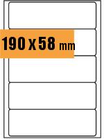 Druckvorlage Etikett Ordnerrücken rechteckig 190x058 mm