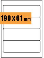 Druckvorlage Etikett rechteckig 190x061 mm