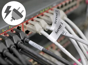 Bestellen Sie Etiketten für Kabel und Elektrik