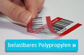 Transparente Polypropylenetiketten