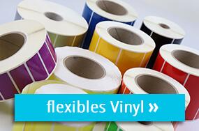 Farbige Vinyletiketten auf Rolle